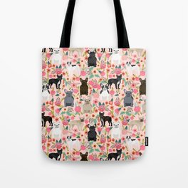 French Bulldog must have florals gifts dog breed pet lover frenchies forever Tote Bag