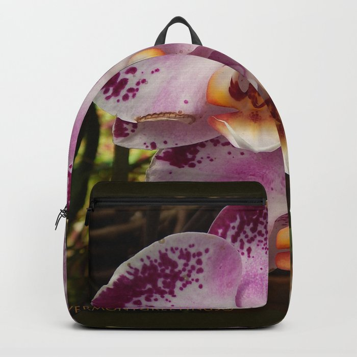 Pink Orchid Blossom from Mexico Backpack