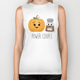 Pumpkin + Spice = Power Couple Biker Tank