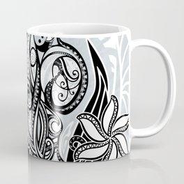 Polynesian FLORAL Tribal Threads Coffee Mug
