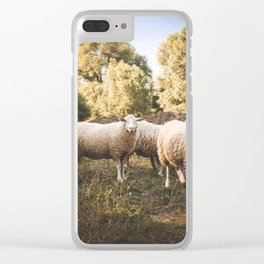 sheep herd Clear iPhone Case