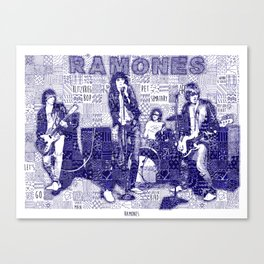 Ramones are on the wall Canvas Print