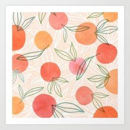 Tropical Fruit Blend Art Print