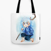 jack frost Tote Bags featuring Jack Frost by cynamon