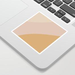 Warm Neutral Color Wave Sticker