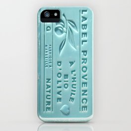 blue french marseille soap iPhone Case