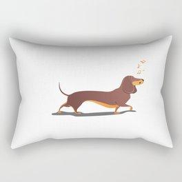 Funny dog sings song. Rectangular Pillow