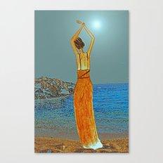 Bohemian beach Canvas Print