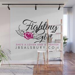 Fighting Girls Wall Mural