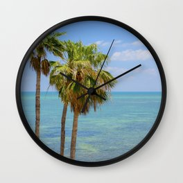 Palms in Paradise Wall Clock
