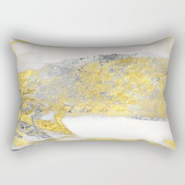 Silver and Gold Marble Design Rectangular Pillow