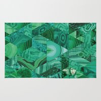 malachite Area & Throw Rugs featuring Malachite Fusion by Kiss the Sky