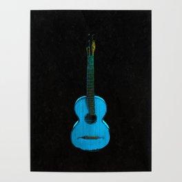 Blue Guitar Music Music Lover Poster