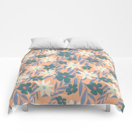 Just Peachy Floral Comforters
