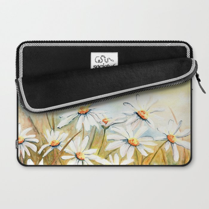 Daisies Watercolor Laptop Sleeve