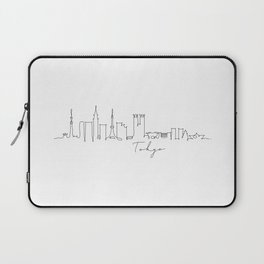 Pen line silhouette Tokyo Laptop Sleeve