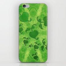 Vine leaves on green kaleidoscope iPhone & iPod Skin