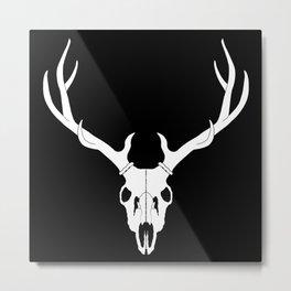 Elk Skull Metal Print