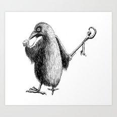 The Raven Wizard Art Print