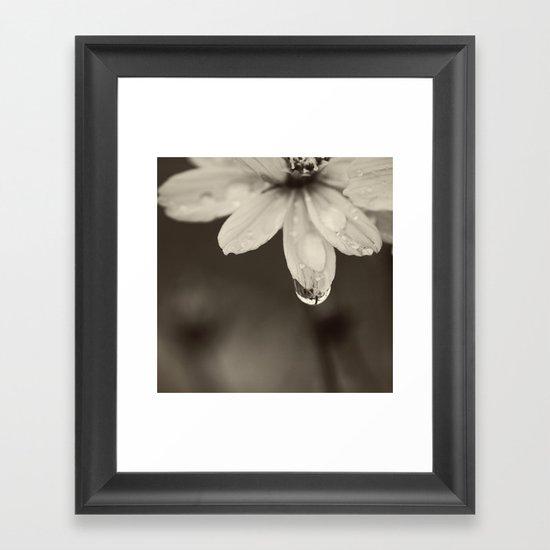 Waterdrop Framed Art Print