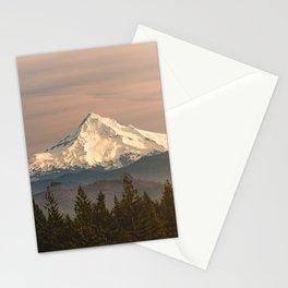 Mount Hood Vintage Sunset - Nature Landscape Photography Stationery Cards