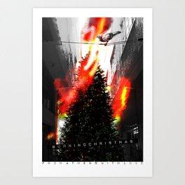 Burning Christmas Art Print