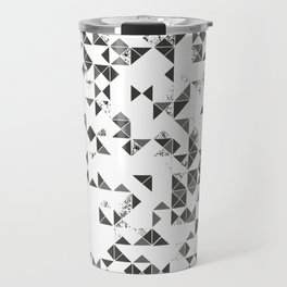 TRIANGLES B&W Geometric print Travel Mug