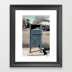 no one uses me anymore Framed Art Print