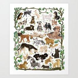 Pup Park Art Print