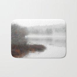 Foggy lake on a winter day - Nature Photography Bath Mat