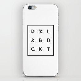 P X L & B R C K T iPhone Skin