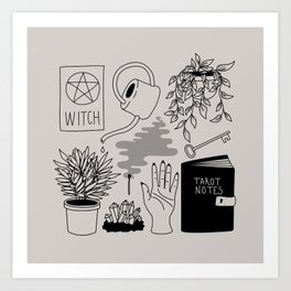 Witchy Treasures Art Print