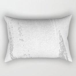 CONFIDENT - brush, white, gray background Rectangular Pillow