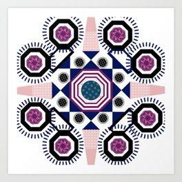 Mixed Emotions Mandala Art Print