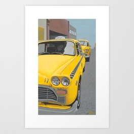Taxi Stand version 2 Art Print