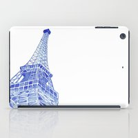 eiffel tower iPad Cases featuring Eiffel Tower by BlueShadowM