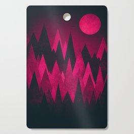 Dark Triangles (Peak Woods) Abstract Grunge Mountains Design (red/black) Cutting Board
