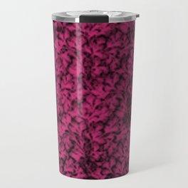 Vintage Floral Lace Leaf Pink Yarrow Travel Mug