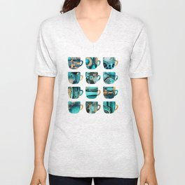 My Favorite Coffee Cups Unisex V-Neck