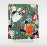 marie antoinette Shower Curtains featuring Dauphine Marie Antoinette by Loretta Keresen