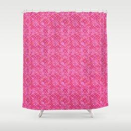 Tribal Batik, Shades of Fuchsia Pink Shower Curtain