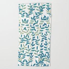 Leaves 6 Beach Towel