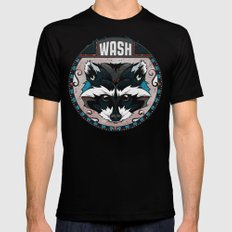 Wash Mens Fitted Tee Black SMALL