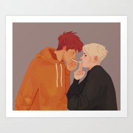 Neil & Andrew fanart Art Print
