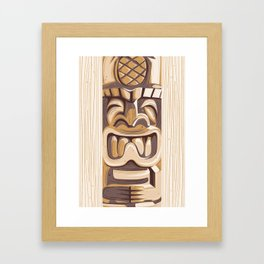 Happy Tiki Framed Art Print
