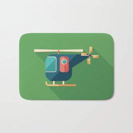 Civilian Helicopter Bath Mat