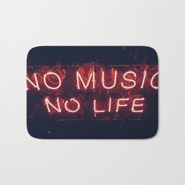 No Music No life Bath Mat