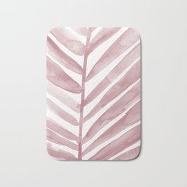 Pink Palm Leaf Crop Bath Mat