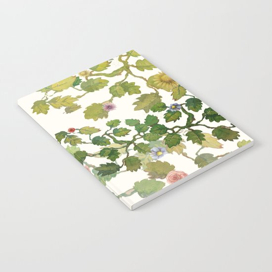 water color garden with flowers! ( Notebook