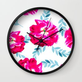Fluorescent Florals #society6 #decor #buyart Wall Clock